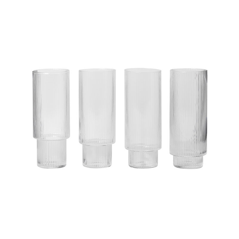 Image of   Ferm Living Ripple Long Drink Glasses