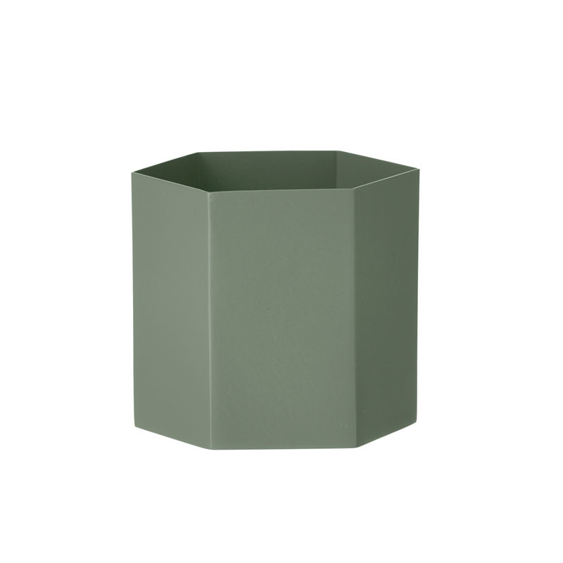 ferm living hexagon pot dusty green large. Black Bedroom Furniture Sets. Home Design Ideas