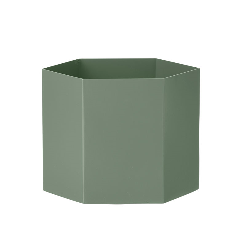 ferm living hexagon pot dusty green extra large. Black Bedroom Furniture Sets. Home Design Ideas