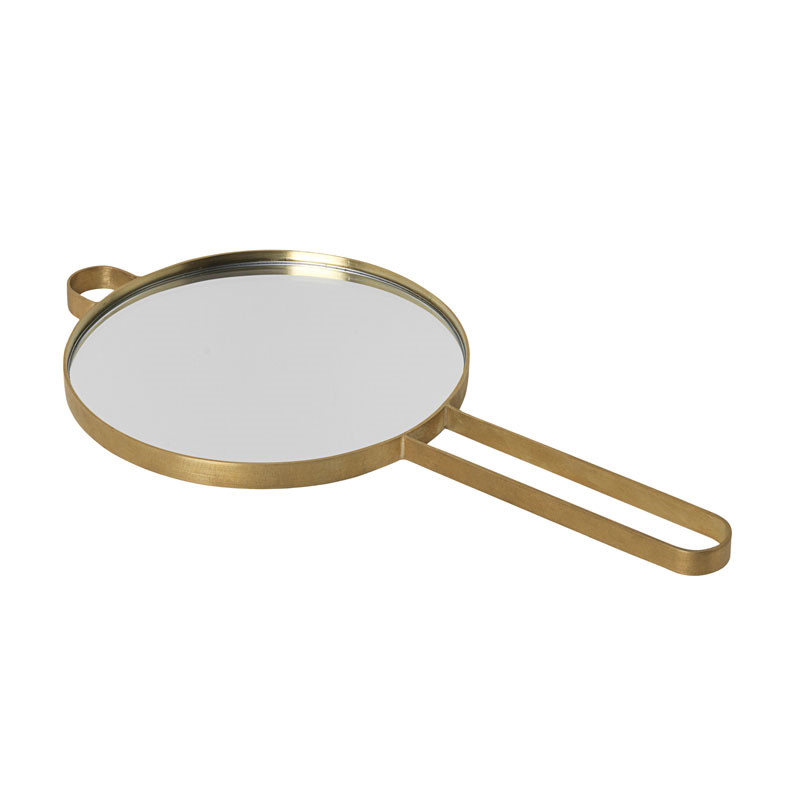 Image of   Ferm Living Poise Hand Mirror Brass