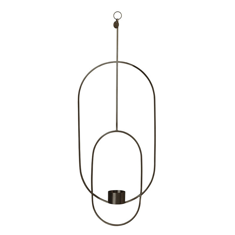 Image of   Ferm Living Hanging Tealight Deco Oval Black