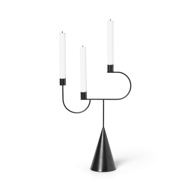 Image of   Ferm Living Avant Candelabra Black