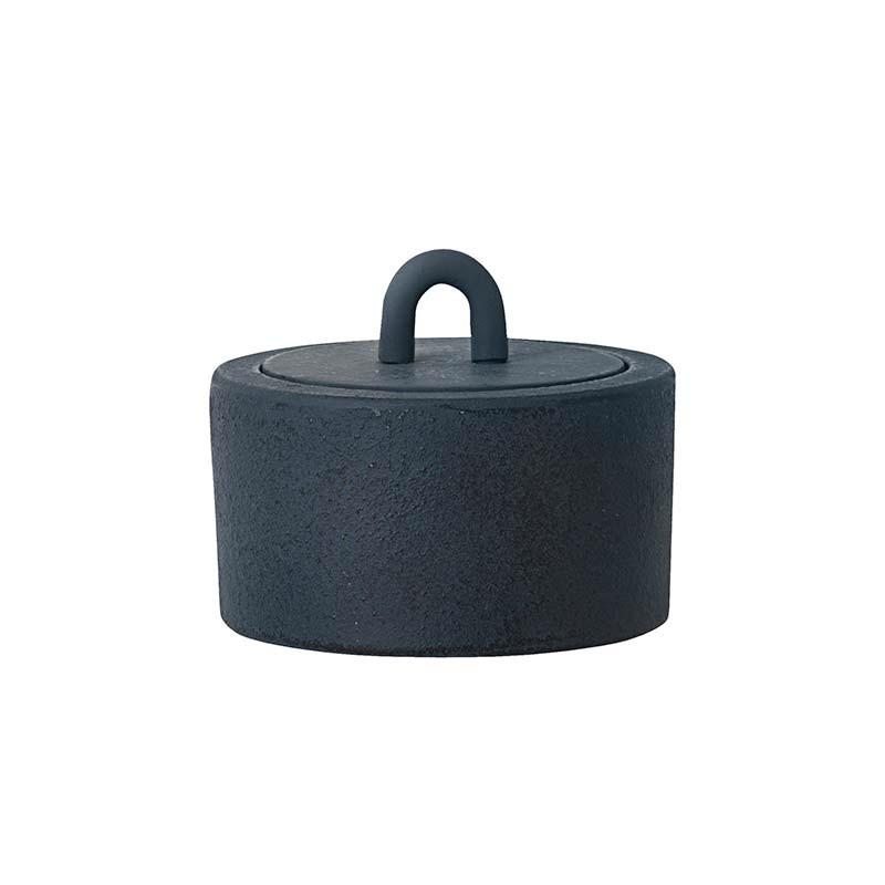 Image of   Ferm Living Buckle Jar Mørkeblå