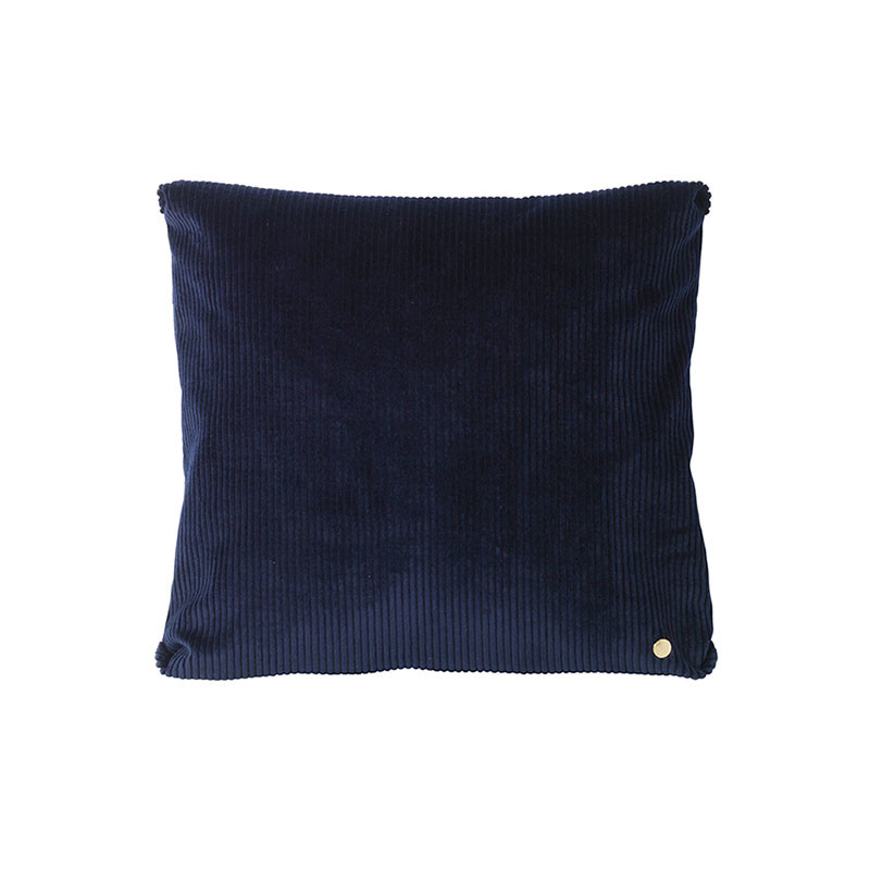 Image of   Ferm Living Corduroy Cushion Navy