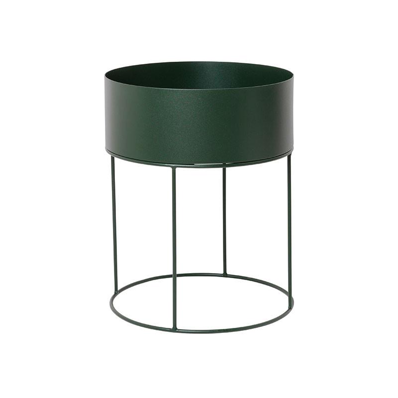 Ferm Living Plant Box Round Dark Green fra Ferm Living