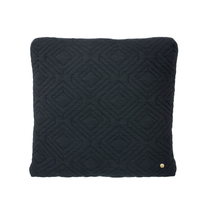 Image of   Ferm Living Quilt Cushion Dark Grey 45 x 45