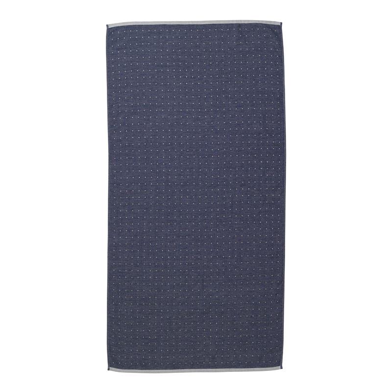 Ferm living sento towel blue