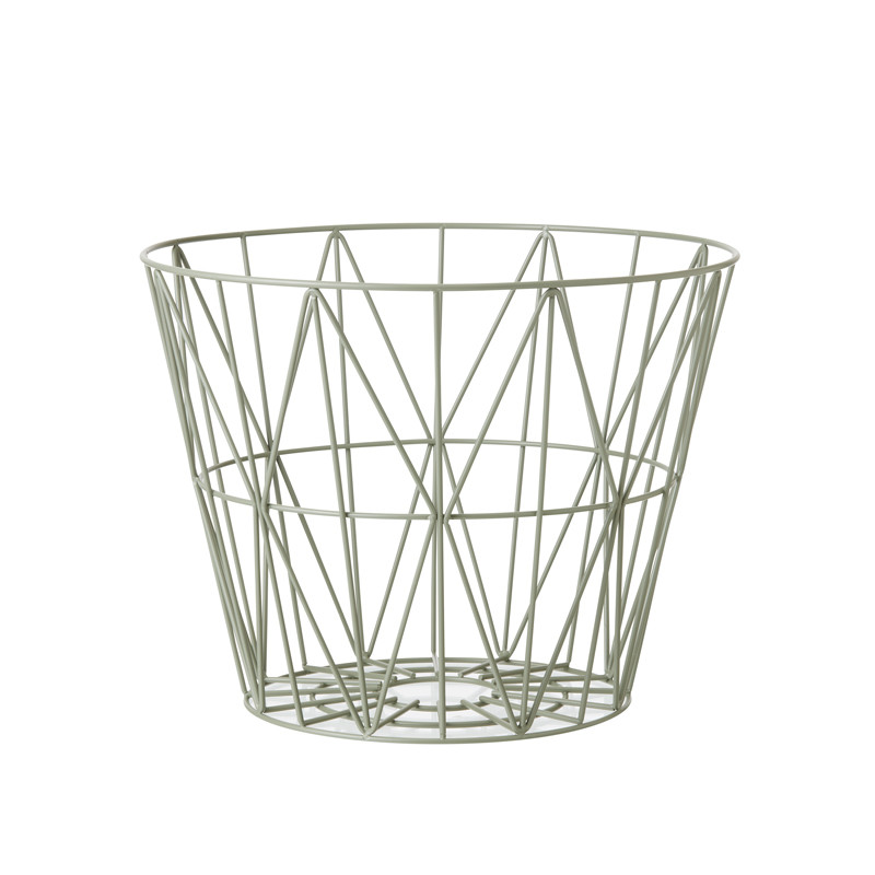 Image of   Ferm Living Wire Basket Støvet Grøn