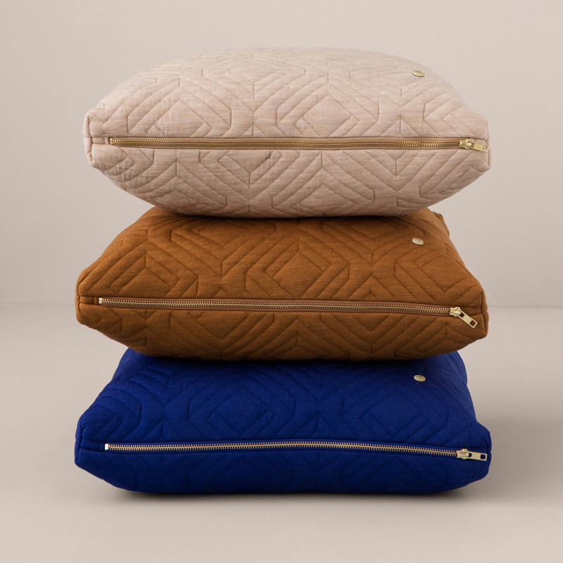 Image of   Ferm Living Quilt Cushion Camel 60 x 40