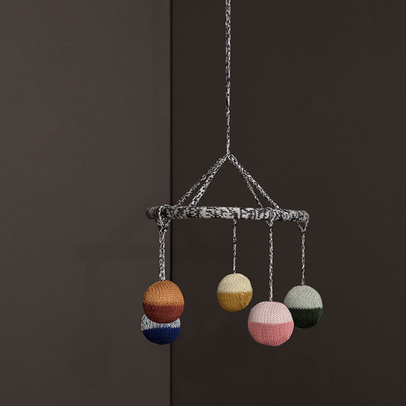 Image of   Ferm Living Ball Knitted Hanging Mobile