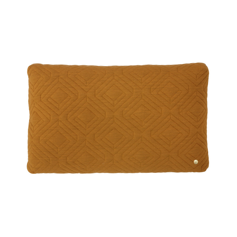 Image of   Ferm Living Quilt Cushion Curry 60 x 40