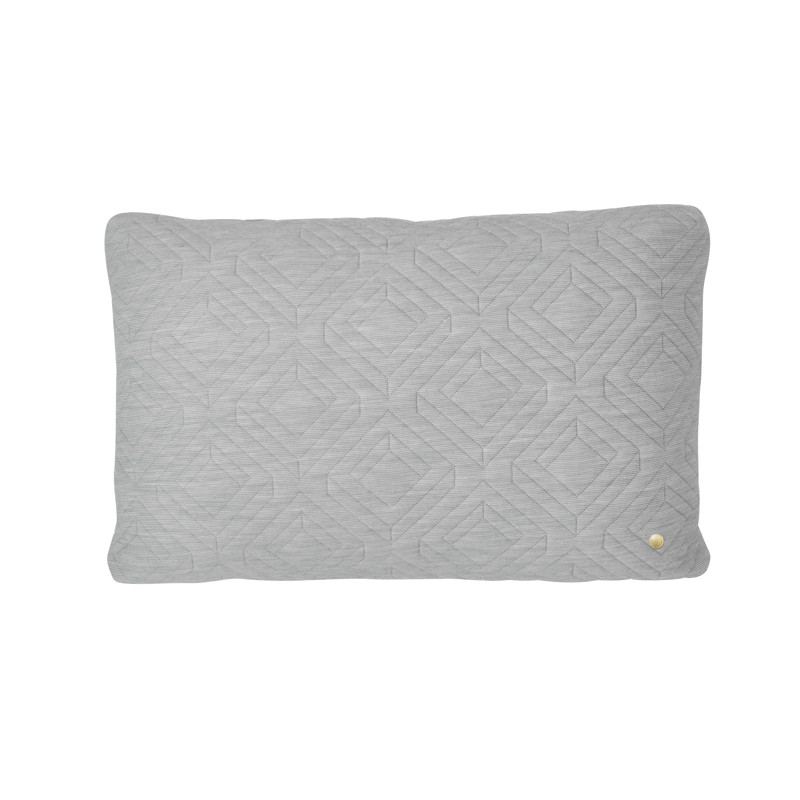 Image of   Ferm Living Quilt Cushion Light Grey 60 x 40