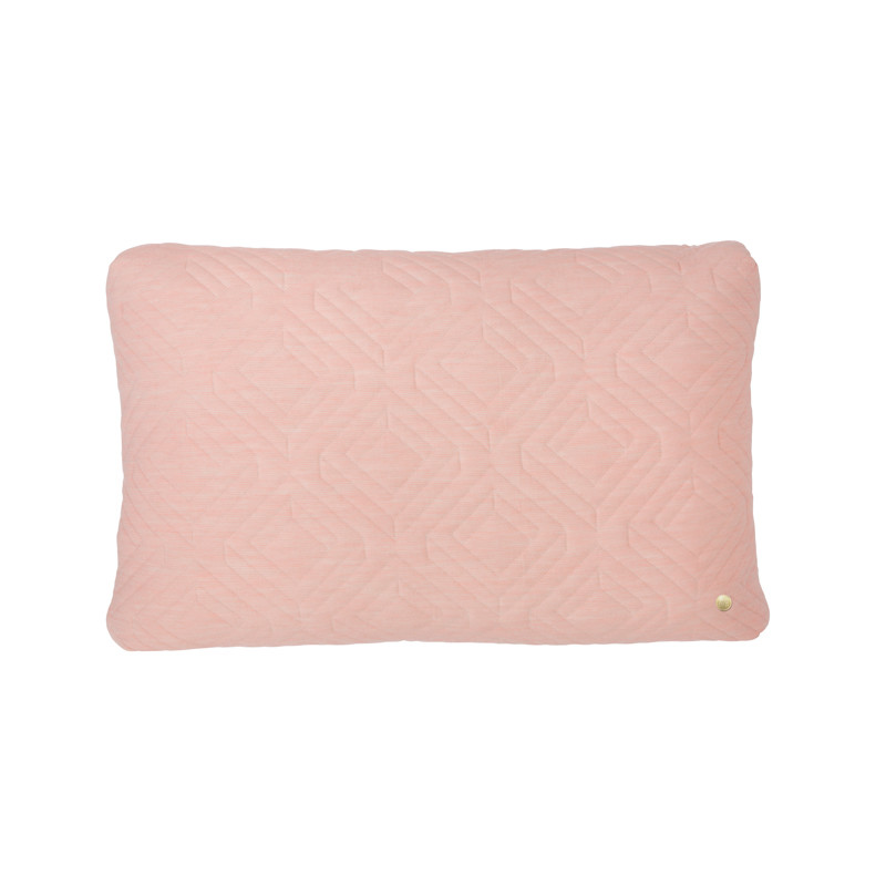 Image of   Ferm Living Quilt Cushion Rose 60 x 40