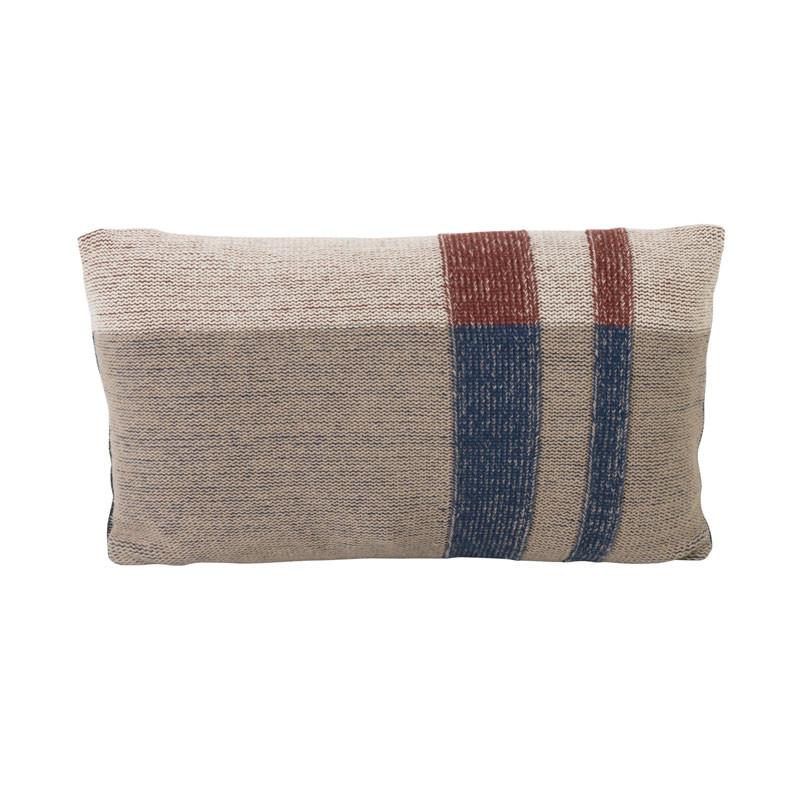 Ferm living medley knit pude mørkeblå small