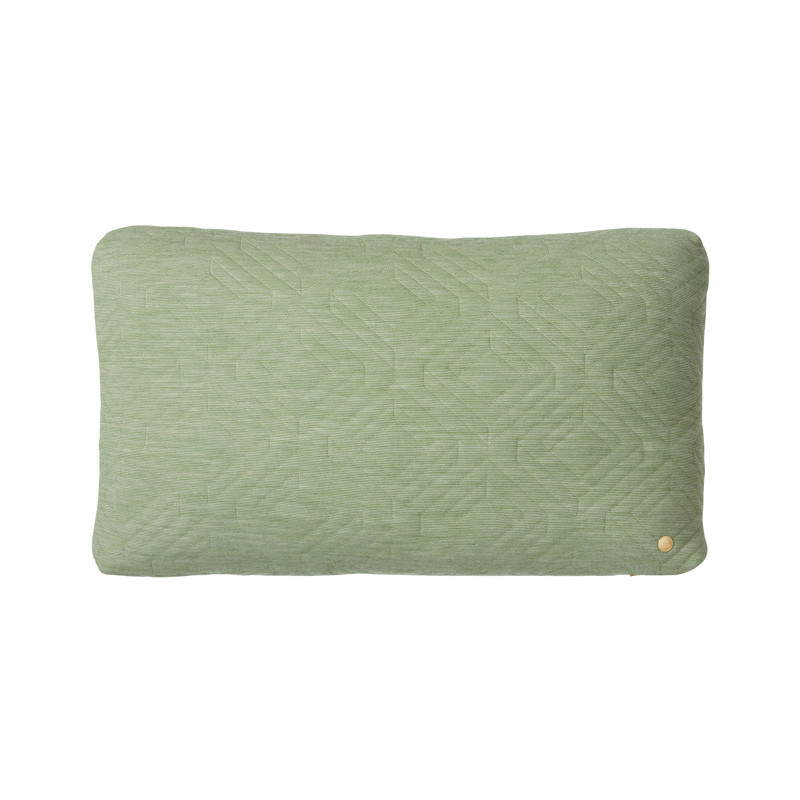 Image of   Ferm Living Quilt Cushion Green 60 x 40