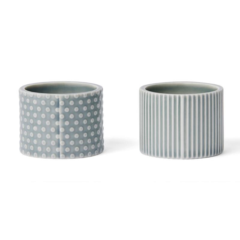 Finnsdottir pipanella egg cups blue grey fra Finnsdottir på livingshop