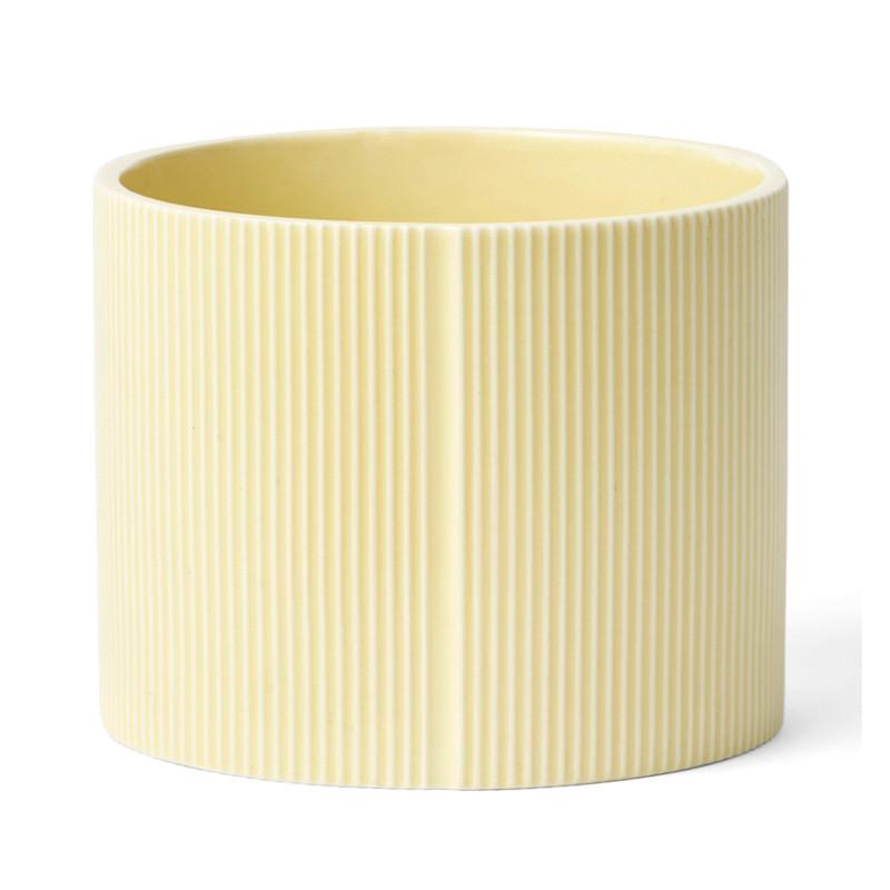 Finnsdottir Finnsdottir pipanella flower pot drum big yellow fra livingshop