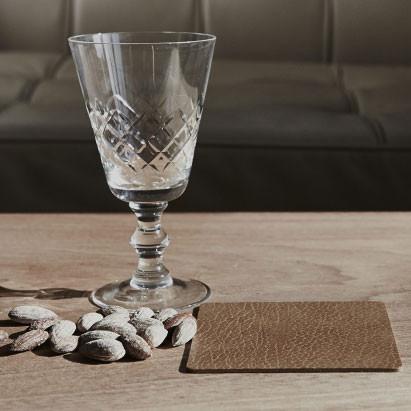 Linddna glassmat square bordskåner