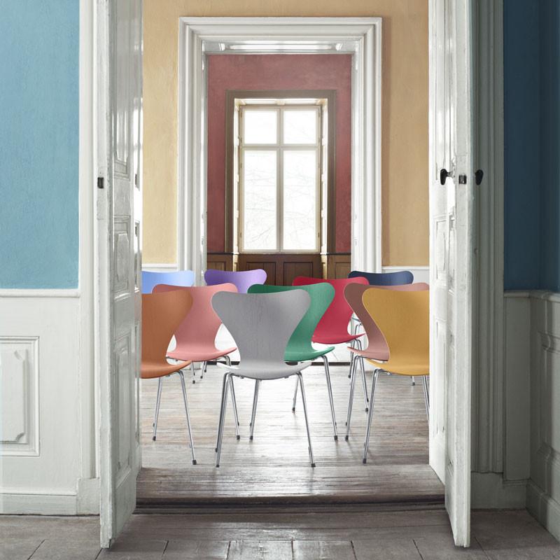 fritz hansen 3107 serie 7 stol farver af tal r. Black Bedroom Furniture Sets. Home Design Ideas