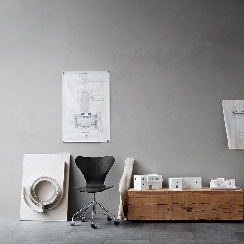 fritz hansen 3117 serie 7 drejestol. Black Bedroom Furniture Sets. Home Design Ideas