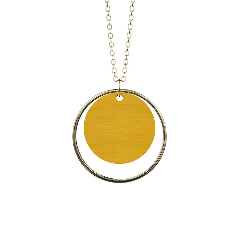 Image of   Grundled Adverbium Necklace Mustard