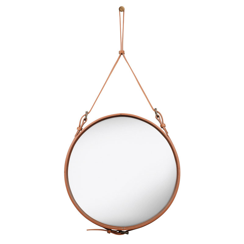 rundt spejl med læderrem Gubi AdCircular Spejl   Livingshop.dk rundt spejl med læderrem