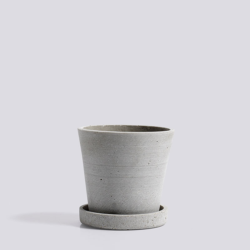 Image of   HAY Flowerpot With Saucer S Grey