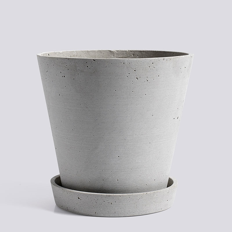 Image of   HAY Flowerpot With Saucer XL Grey