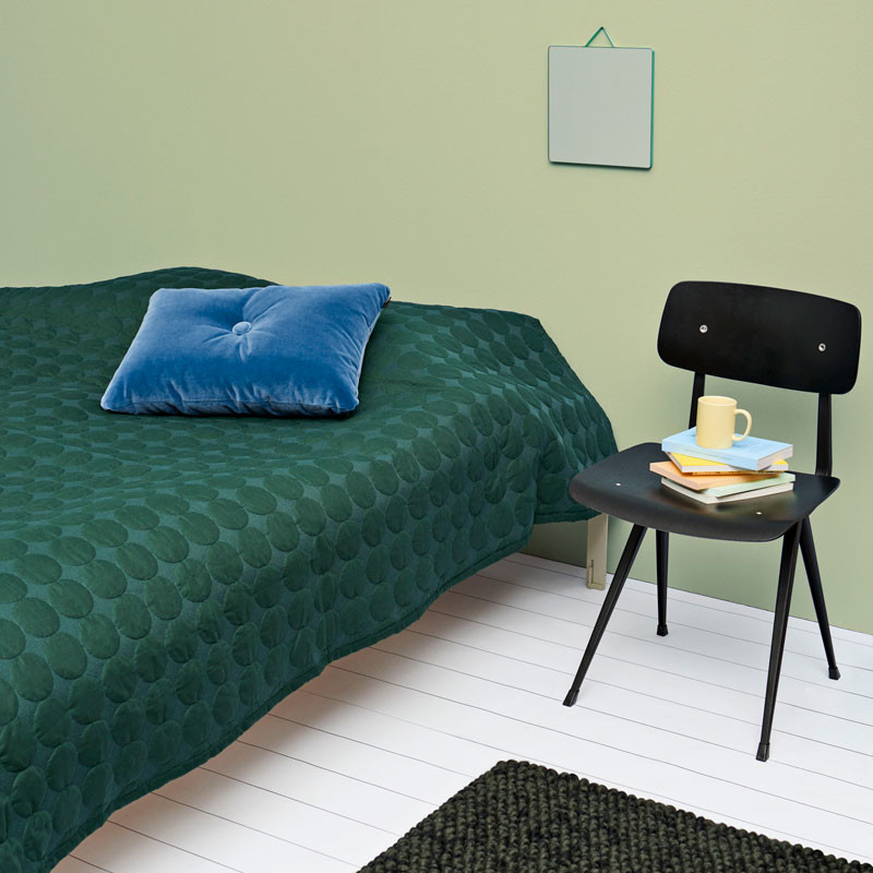 Image of   HAY Mega Dot Bed Cover Dark Green 195 x 245 cm