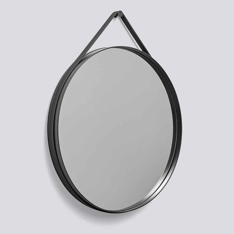 HAY Strap Mirror Ø70 Anthracite fra Hay