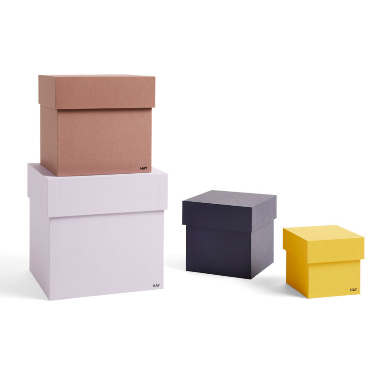 Hay box box desktop set of 4 lavender