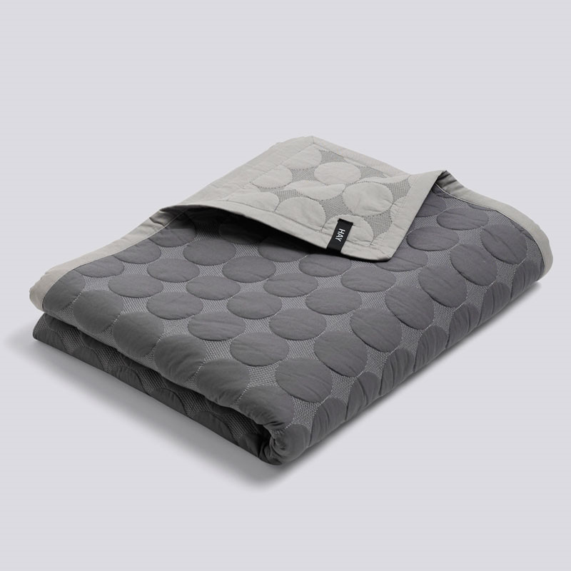 Hay mega dot bed cover dark grey 235 x 245 cm