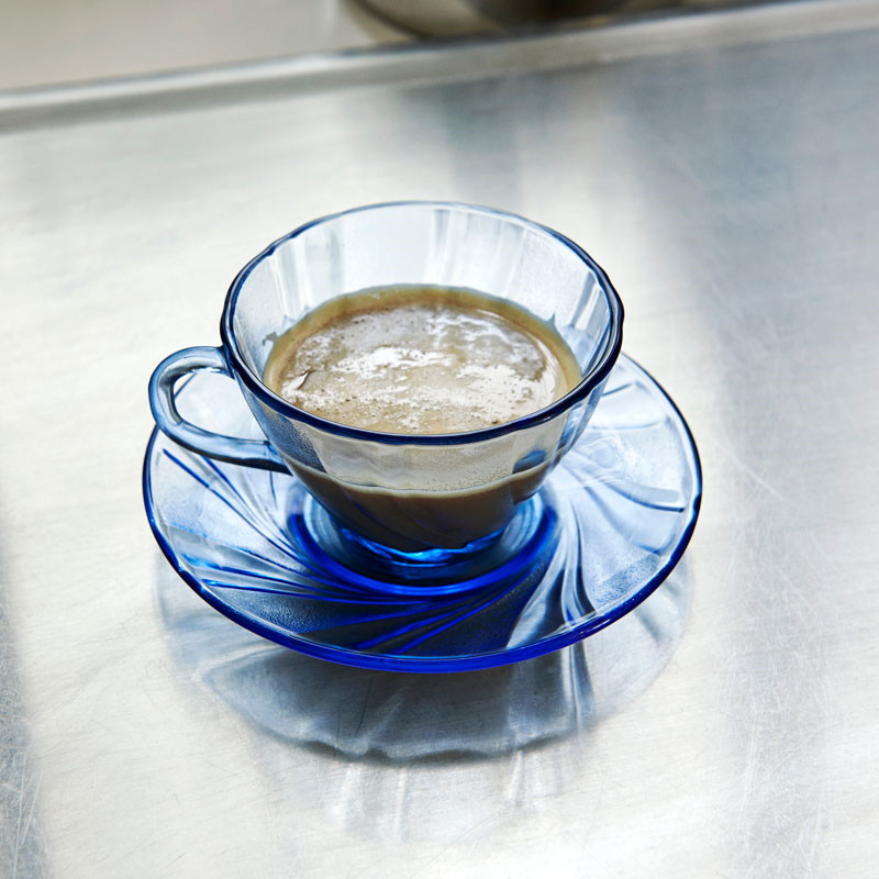 Image of   HAY French Coffee Cup with Saucer Blue