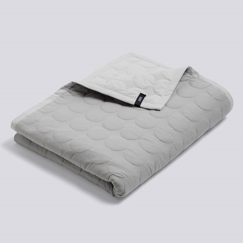 Image of   HAY Mega Dot Bed Cover Light Grey 195 x 245 cm