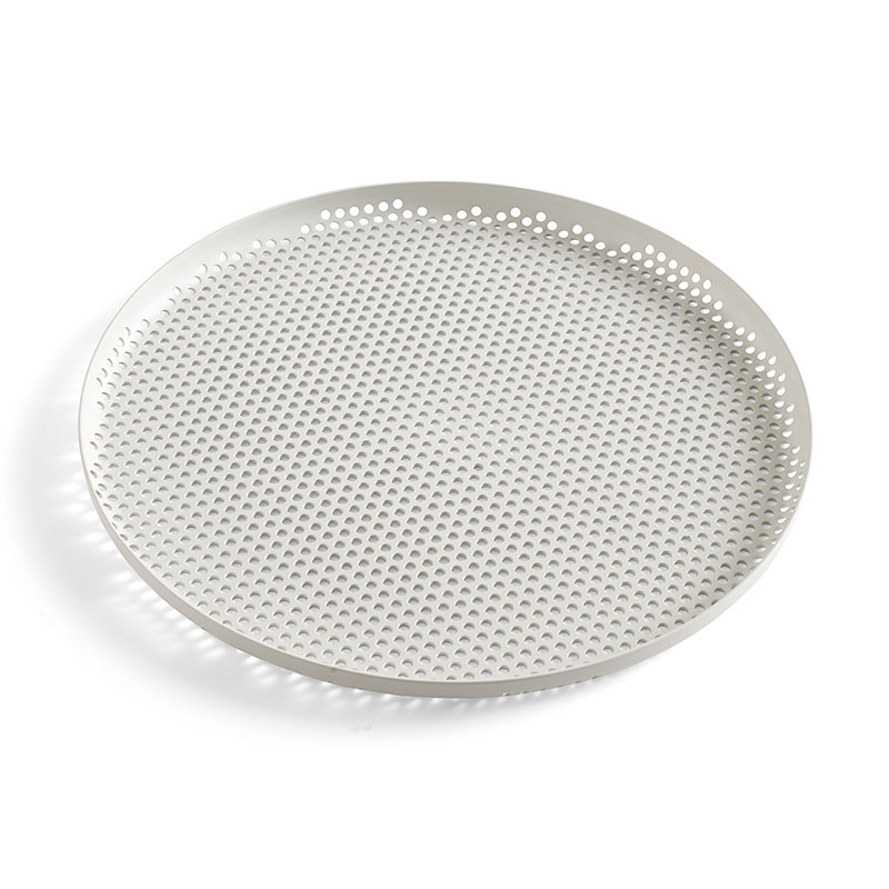 Hay perforated tray l soft grey