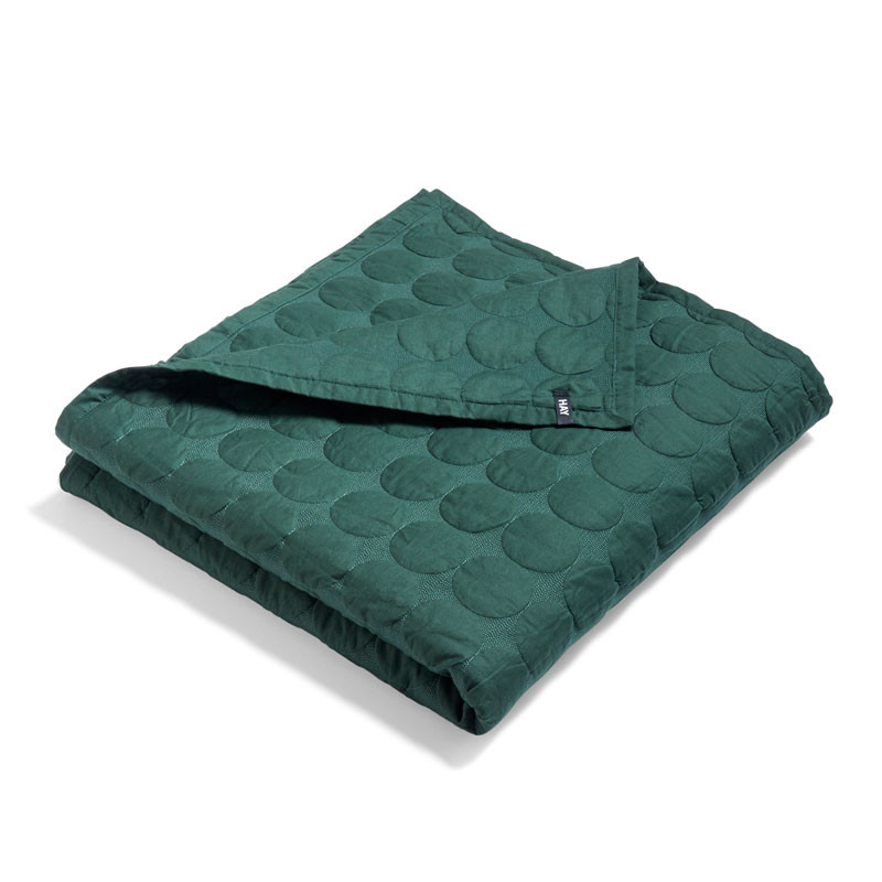 Image of   HAY Mega Dot Bed Cover Dark Green 235 x 245 cm