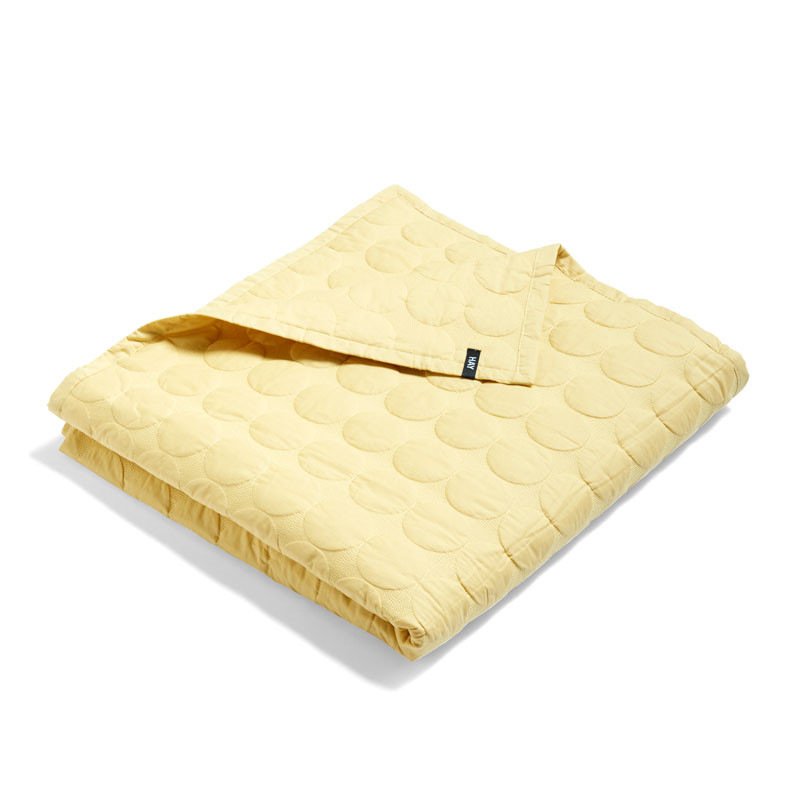 Image of   HAY Mega Dot Bed Cover Soft Yellow 195 x 245 cm