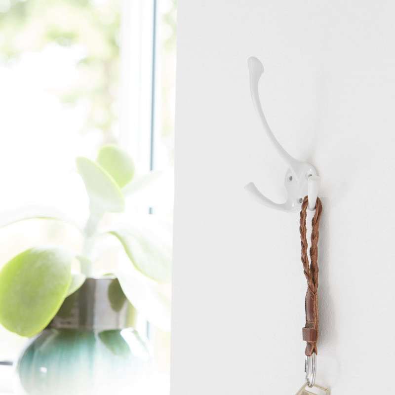 House doctor dobbelt knage hvid