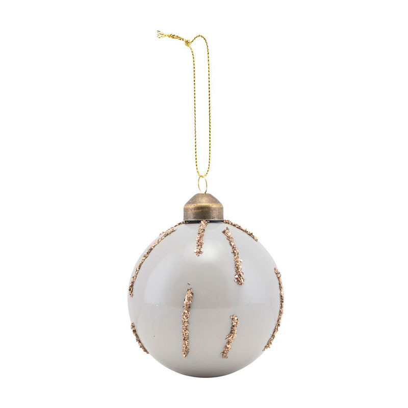 House doctor gold details ornament grey