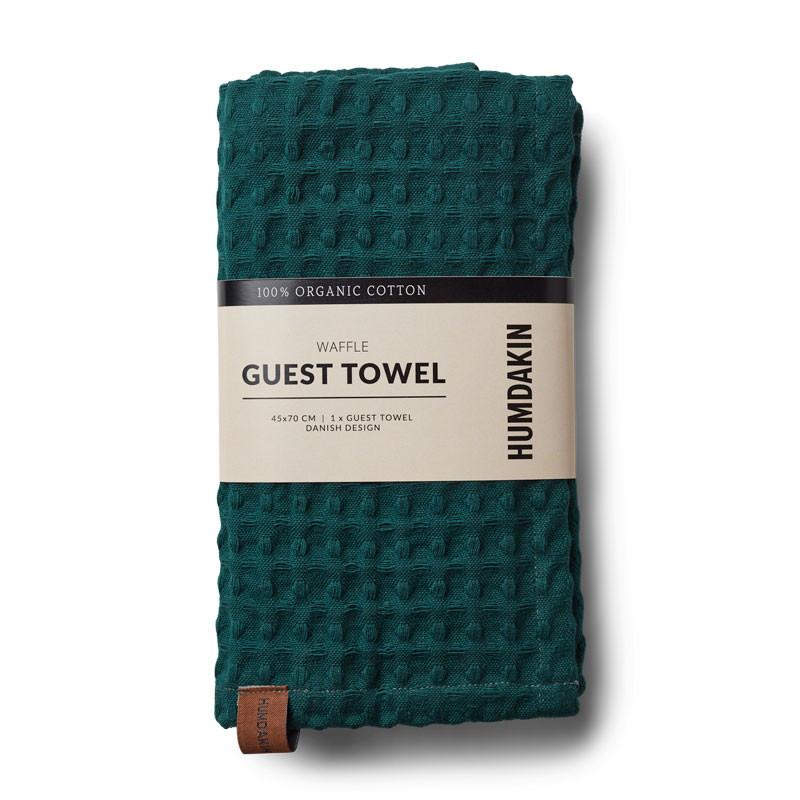 Image of   Humdakin Waffle Guest Towel Dark Wood