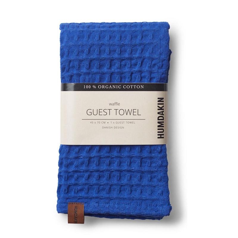 Humdakin waffle guest towel blue cloud