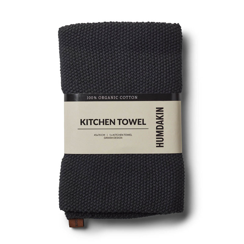 Image of   Humdakin Knitted Kitchen Tea Towel Coal