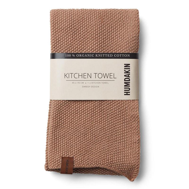 Humdakin Knitted Kitchen Tea Towel Latte