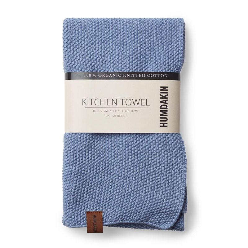 Image of   Humdakin Knitted Kitchen Tea Towel Light Blue