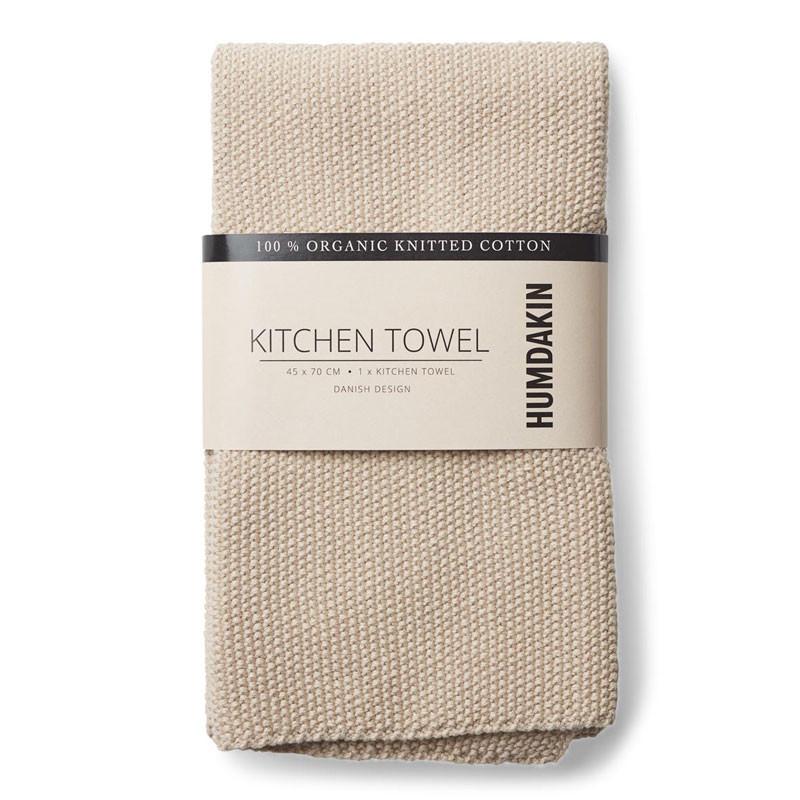 Image of   Humdakin Knitted Kitchen Tea Towel Light Stone