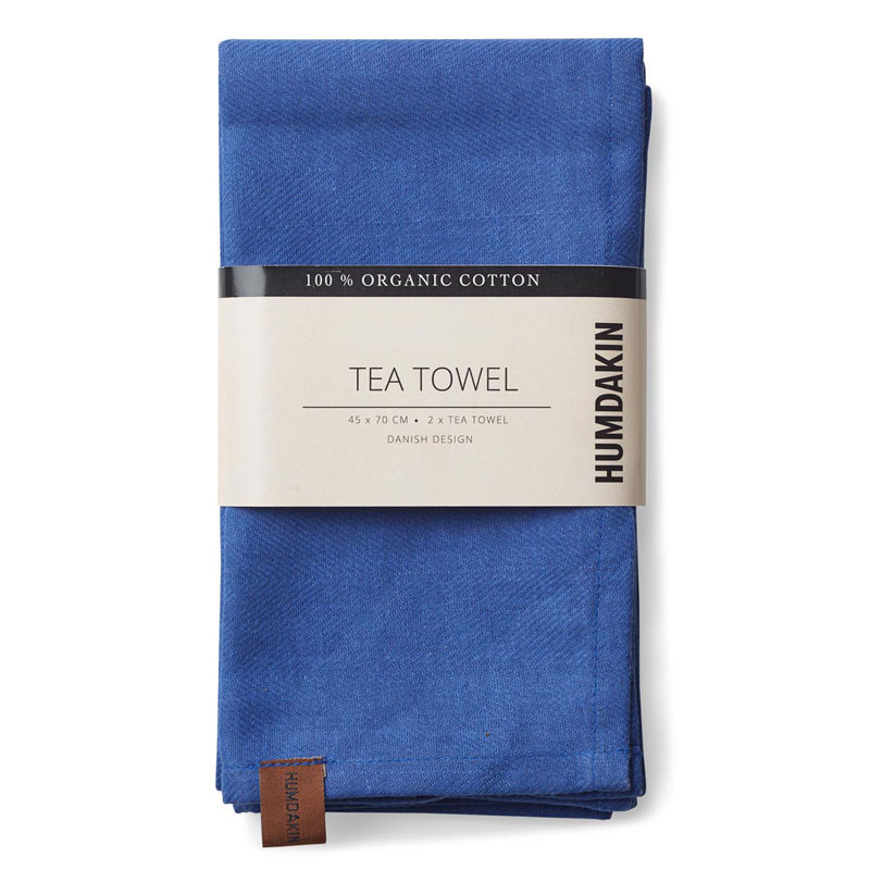 Image of   Humdakin Organic Tea Towel Blue Cloud