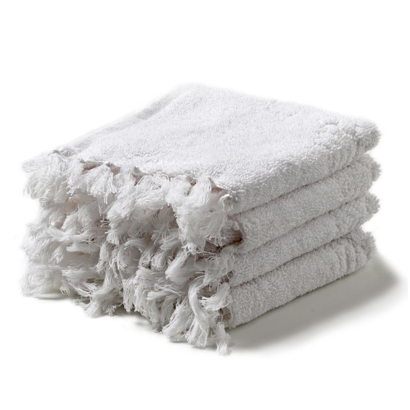 Image of   Humdakin Washcloths 4-Pack White