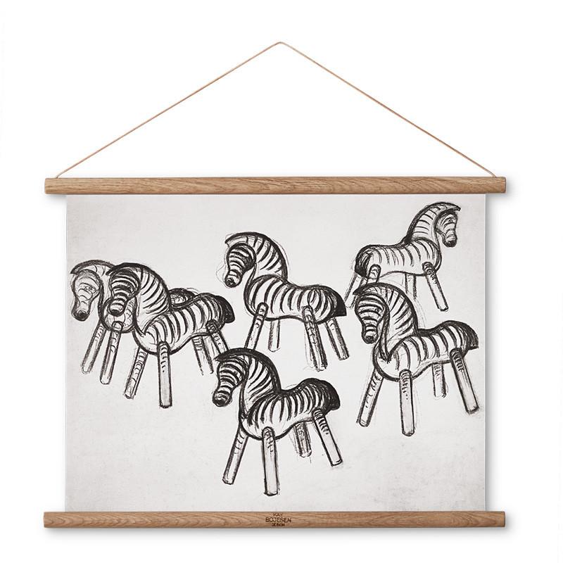 Kay bojesen zebra illustration 43 x 33 fra Kay bojesen på livingshop