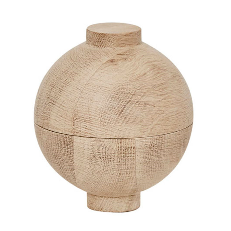 Image of   Kristina Dam Wooden Sphere Bowl Oak