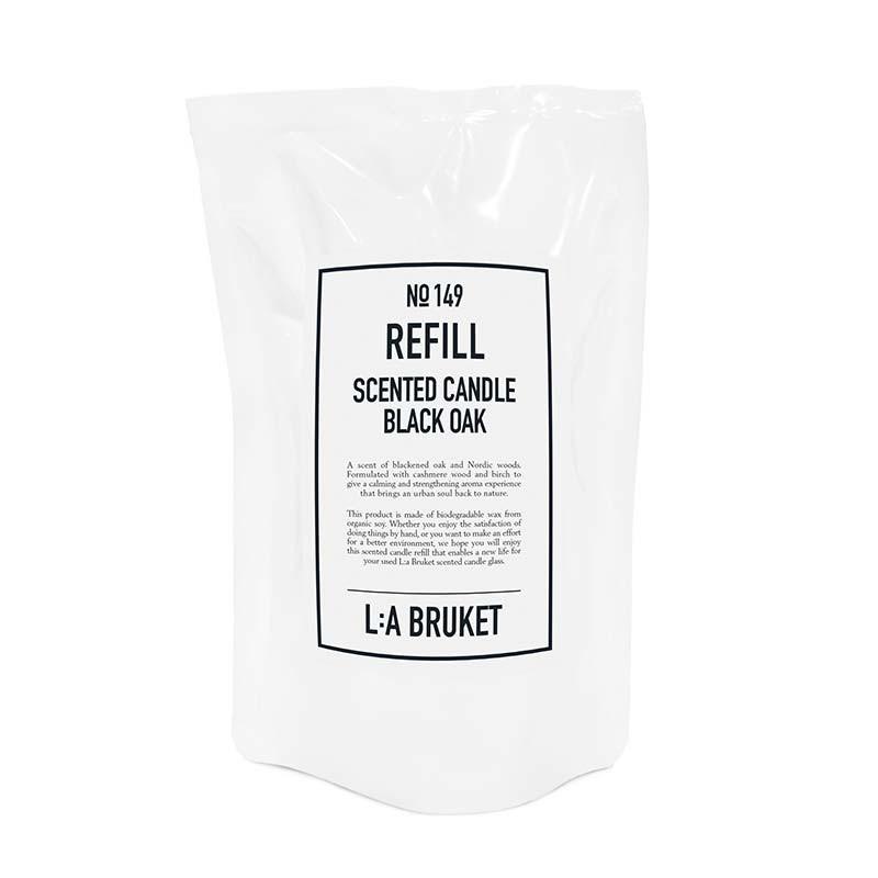 L:a bruket refill scented candle black oak